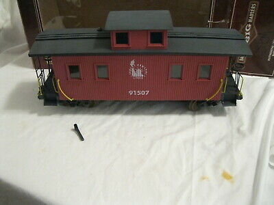 G Scale Bachmann Trains Jersey Central Center Cupola Wood Caboose Car 91507