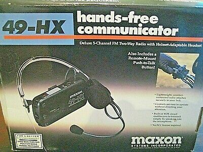 MAXON 49-FX Model-1/4 Mile Range-Hands Free 2-Way Communicator- Helmet (Communication Range)