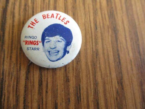 "Vintage Beatles Ringo Starr ""Rings"" Pin Pinback Button Seltaeb 1964 Green Duck"