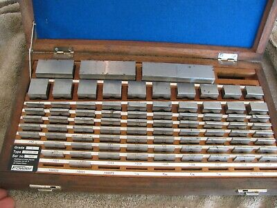 Grade A Vintage 81 Piece Fowler Square Gage Block Set Machinist Tools Tool