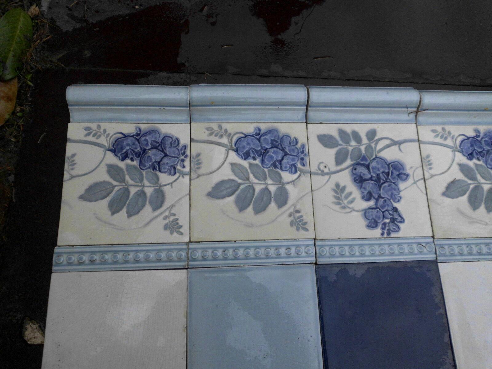 carrelage faience art nouveau saint amand desvres vitrail eur 2 00 picclick be. Black Bedroom Furniture Sets. Home Design Ideas