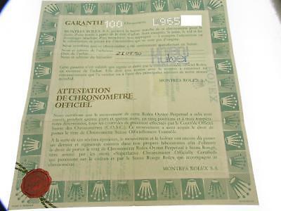 Rolex certificate serial L965xxx genuine Certificato Garanzia paper, usato usato  Verona