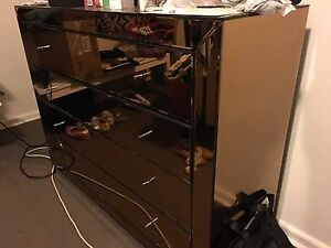 Rose gold dresser 4 draw cupboard Greenacre Bankstown Area Preview