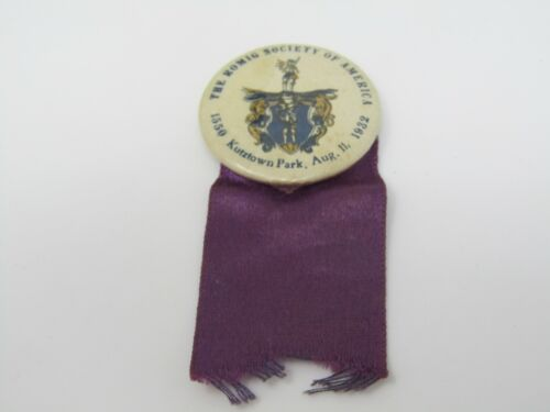 The Romig Society of America 1932 Pin Ribbon Antique Kutztown Park