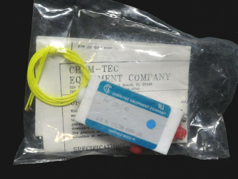CHEM-TEC - EQUIPMENT COMPANY - FLOW SWITCH - PART NUMBER: 125-T (NEW)