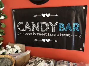 Candy Bar banner & clear candy bags w/twist ties