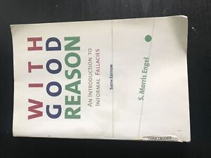 """""""With good reason"""" Used book for sale."""