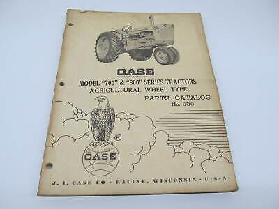 Original Case 700 And 800 Series Wheel Tractors Parts Catalog Manual Book No.630