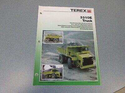 Terex 3310e Dump Truck Literature