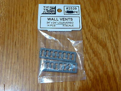 Tichy Train Group #2539 (N Scale)Louvered Wall Vent (Styrene) -- Scale 24 x 24