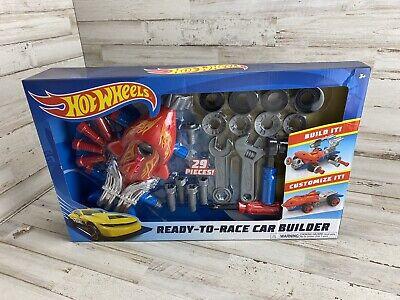 Hot Wheels Ready to Race Car Builder 29 Pc Tool Set Car Builder Kit-Sealed SHARK