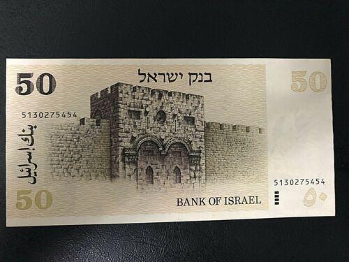 Israel 50 Sheqalim 1978, 4 Black Bars, David Ben Gurion, Rare Banknote, AU-UNC