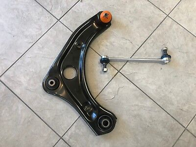 PEUGEOT 207 06-13 ONE FRONT LOWER WISHBONE SUSPENSION CONTROL ARM & ONE LINK RH