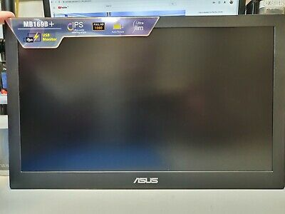 """ASUS 15.6"""" Monitor - MB169B+ Full HD Portable USB Monitor"""