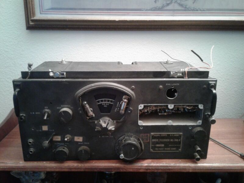 US Army Signal Corps BC-348-R Radio Receiver Bellmont