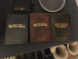 Lord of the rings extended edition DVDs in great shape