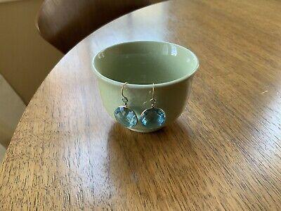 Ippolita Style LARGE Lollipop Rock Candy Blue Topaz 14k Gold Earrings