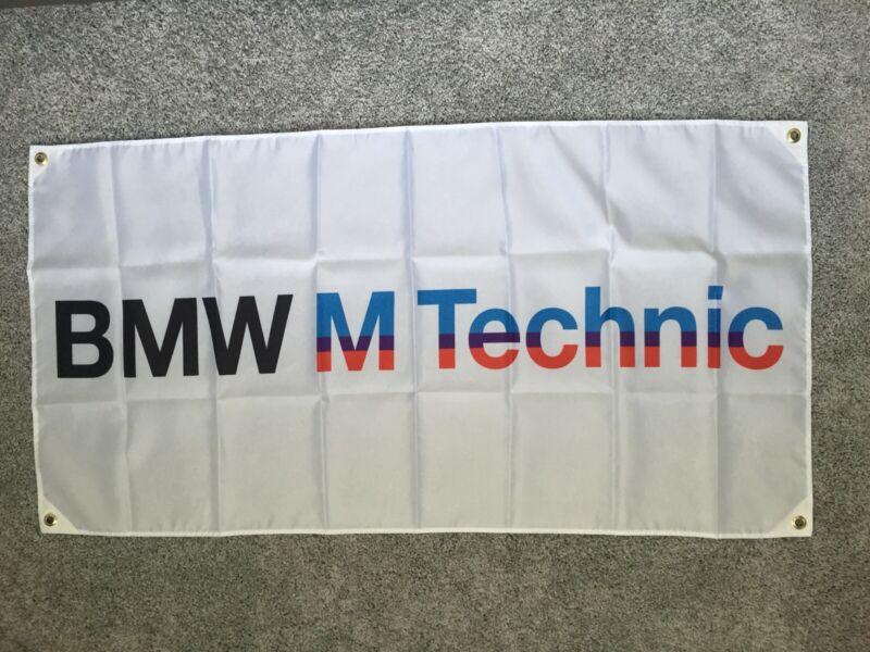 Ultra High Quality White BMW M Technic Flag / 4ft X 2 Ft M1 M3 M5 325ic E30 E36