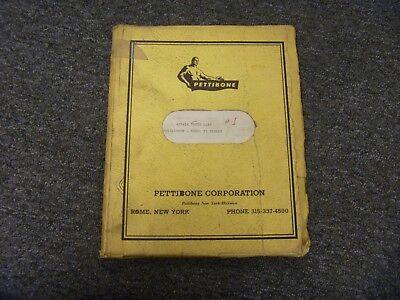 Pettibone Model 25 Multikrane Skidder Repair Parts Catalog List Manual