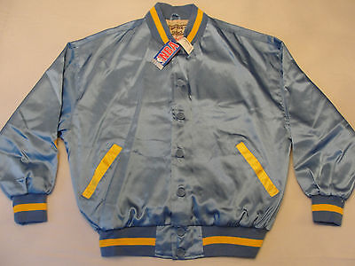 M41 New $350 MLPS Lakers Mitchell & Ness Blue Vintage Satin Jacket 52 2XL  for sale  Boston