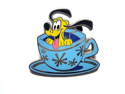 Disney Pin Baby Characters in Vehicles - Pluto in Teacups/Mad Tea Party [100500]