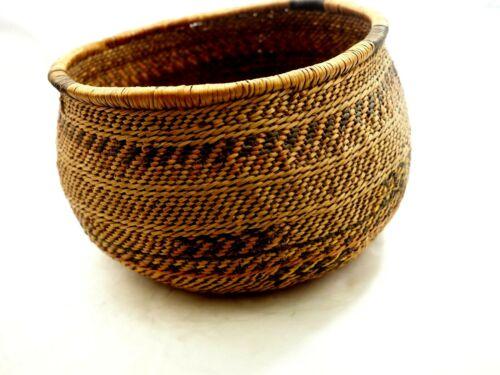 Antique Native American Woven Havasupai Burden Basket C.1920s