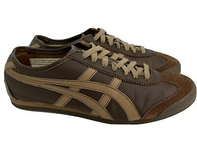 Asics Onitsuka Tiger HL202 Brown Leather Sneakers sz 8.5