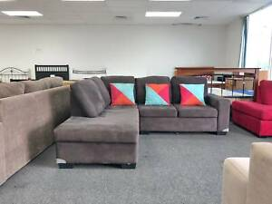 DELIVERY TODAY MODERN BROWN L shaped corner sofa lounge
