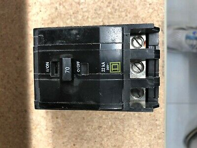 Qob370 Square D Circuit Breaker 10ka240v Open Boxno Box