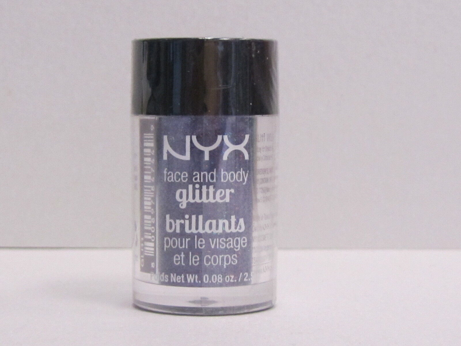 NYX Face and Body Glitter color GLI11 Violet 0.08 oz Brand New With Sealed