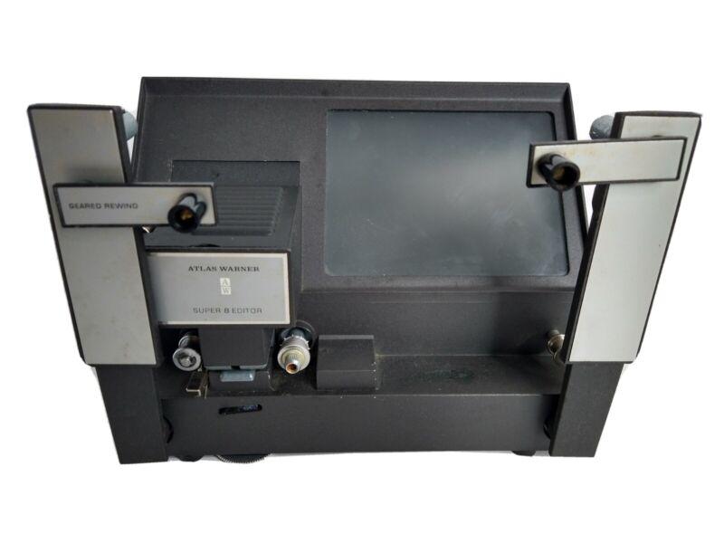 Vtg Super 8 Film Editor Model 300 In Original Box Atlas Warner W/ Direction