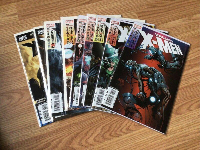 Uncanny Xmen Comics #481-489 VF-NM