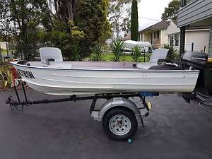 3.5M Aluminium Boat including Mariner 8HP Outboard and Trailer Newcastle Newcastle Area Preview