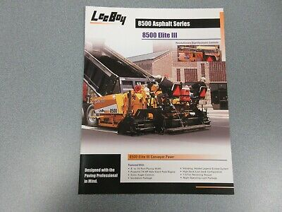 Leeboy 8500 Elite 3 Asphalt Paver Color Sales Sheet 2 Pages