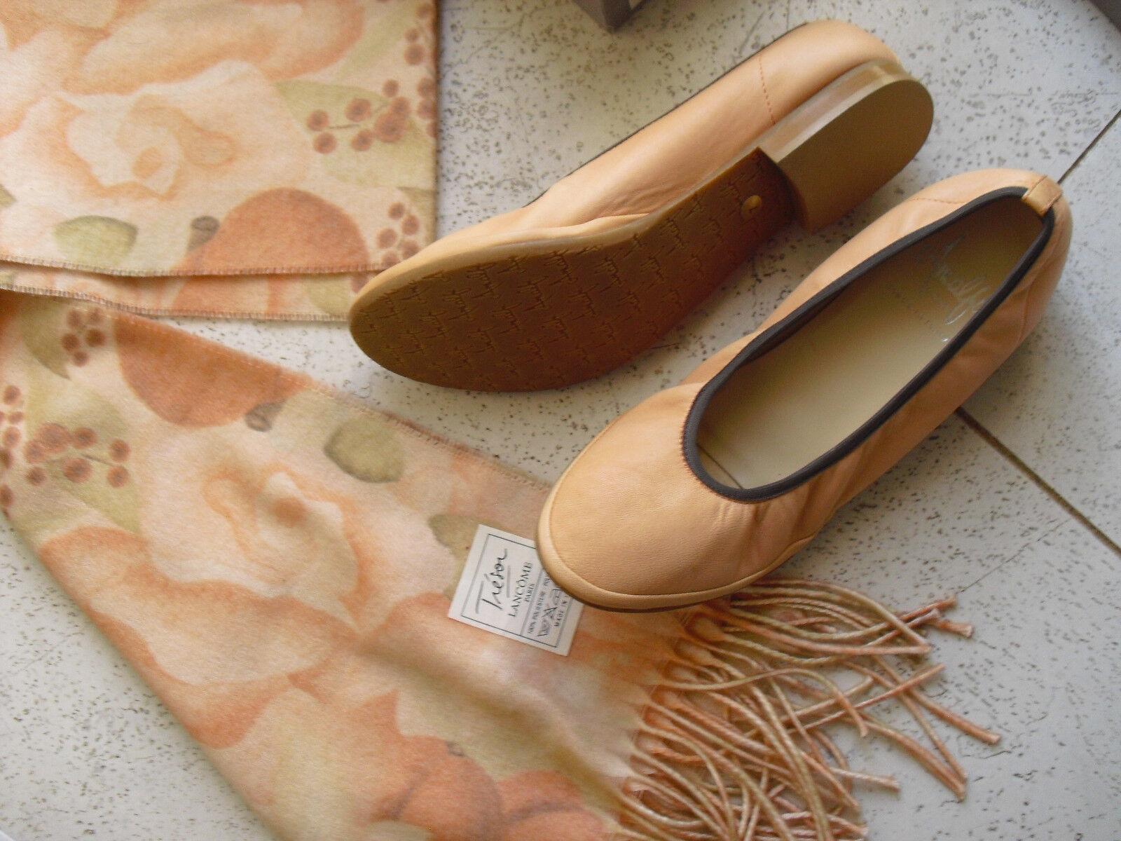 *Amalfi* Ballerinas Gr.7 (38,5) + großes Tuch *TRESOR*,honigmelonenfarben