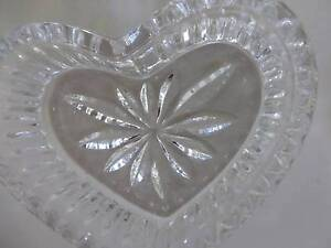 Vintage Lead Crystal Heart Shaped Trinket Box Brighton East Bayside Area Preview