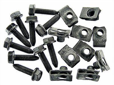 GM Bolts & U-nut Clips- M8-1.25 x 30mm Long- 13mm Hex- 20 pcs (10ea)- #131