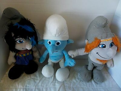 The Naughties Smurfs (Lot 3 Smurfs 2 Plush Characters The