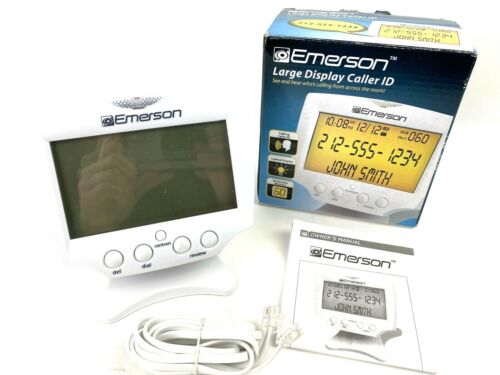 Emerson Large Display Talking Caller ID Tested 60 Number Memory EUC