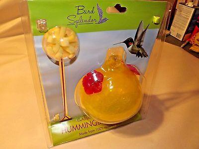 16 Ounce Classic Crackle Glass Hummingbird Feeder (Includes Nectar Recipe)