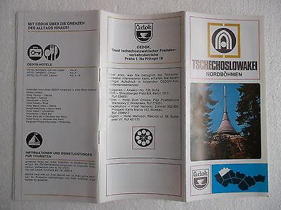 Cedok Nordböhmen Werbung ca 1980 Heft CSSR Ostalgie