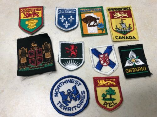 Lot of 10 Canadian Boy Scout Patches