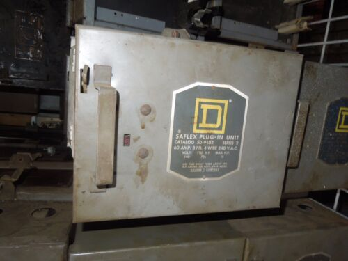 Square D Sd-9452 Round Bar Fusible Busplug 60a 3ph 4w 240v Cover Operated