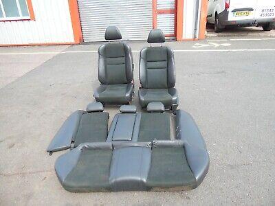2007 HONDA ACCORD MK7 SALOON BLACK HALF LEATHER SEATS