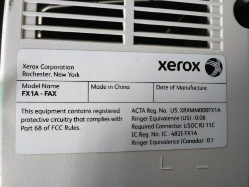 Used Xerox FX1A - FAX unit