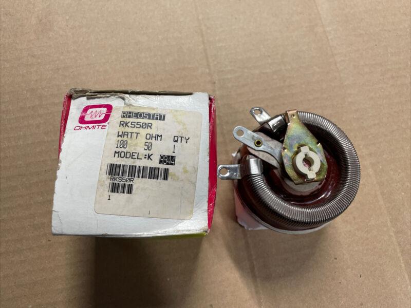 RKS50R OHMITE potentiometer 50 Ohm, 100W Rheostat 100 Watt (t81)