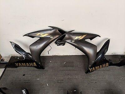 04-06 Yamaha R1 YZFR1 YZF Right Left Side Fairings Panels Bodywork Black OEM