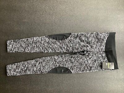 New with tags, Nike women's tight leggings, black/grey pattern, size medium.