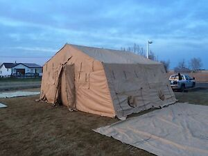 wall tent US army temper tent with the works