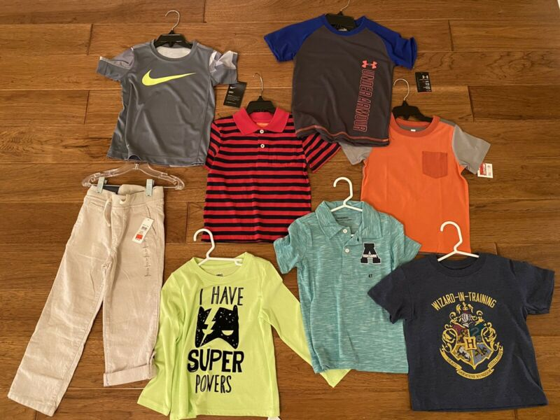 NEW Toddler Boy Size 4T Clothing Lot of 8 Items Gap Nike Under Armor Summer NWT